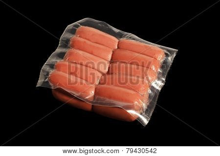 vacuum-packed sausages