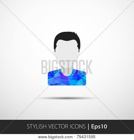 Social networks private users avatar pictogram