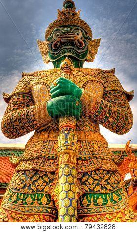 Guard statue in Bangkok Grand Palace