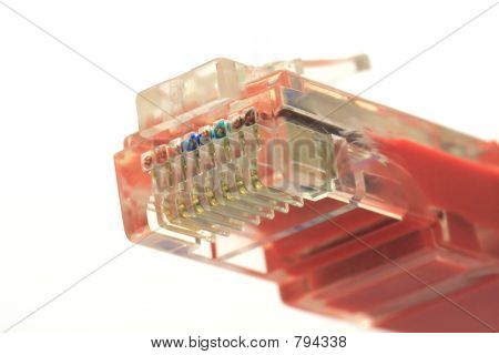 Close up of patch cable