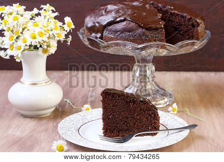 Zucchini Chocolate Cake With Chocolate Glaze