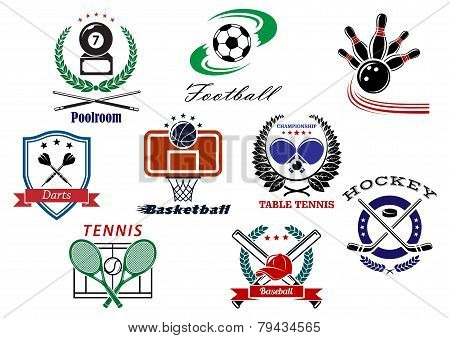 Team sports emblems and logo