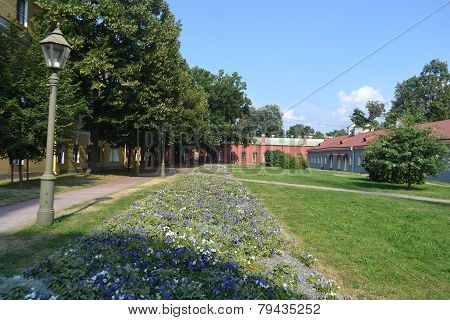 Garden In Peter And Paul Fortress.