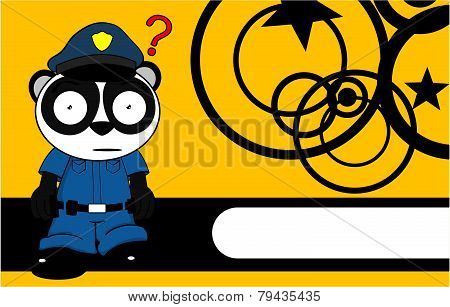teddy panda bear cop cartoon background