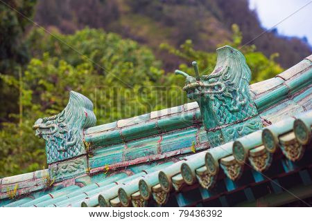 Chinese Rooftop Dragons