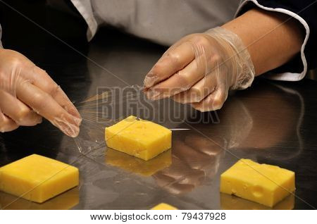 Wrapping The Cheese