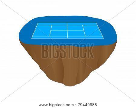 Hard Tennis Court Floating Island