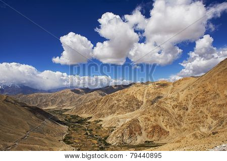 viewpoint high road on the way to Pangong Lake from Leh LADAKH, INDIA