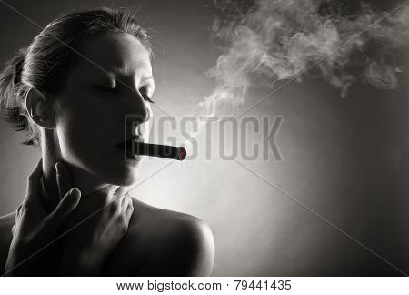 Smoking Cigar