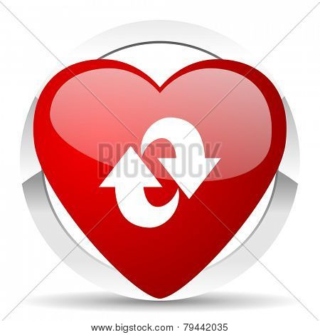 rotation valentine icon refresh sign