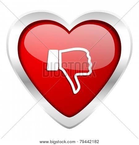 dislike valentine icon thumb down sign