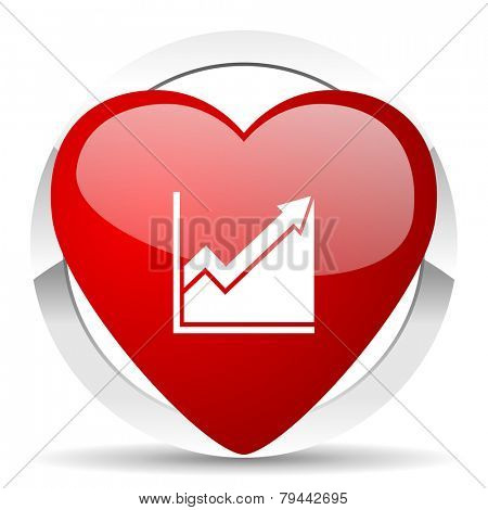 histogram valentine icon stock sign