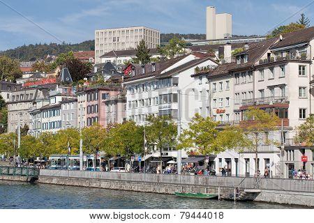 Zurich, The Limmatquai Quay