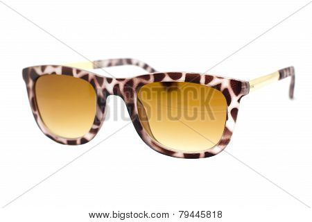 Sun Glasses On A White Background.