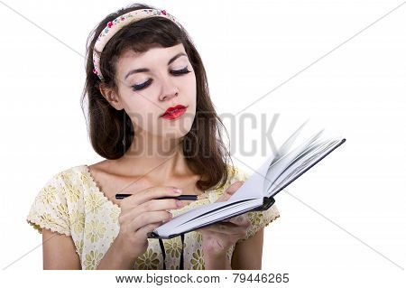 Woman with Sketchbook