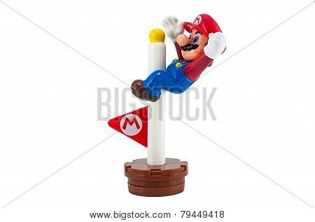 Mario With Goal Pole