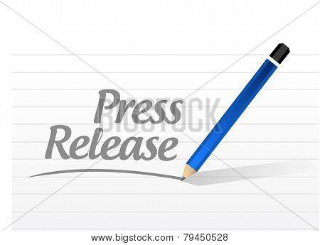 Press Release Message Sign Illustration