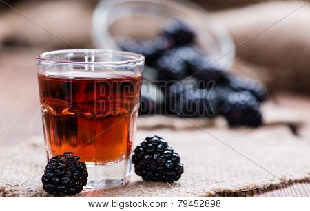 Blackberry Liqueur Shot