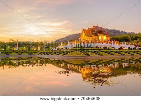 Royal Flora Temple (ratchaphreuk)in Chiang Mai,thailand