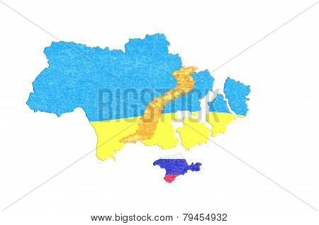 Focus Ukraine, Map With Flag