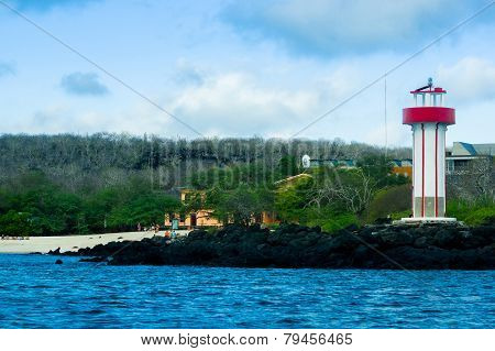 lighthouse in san cristobal galapagos islands