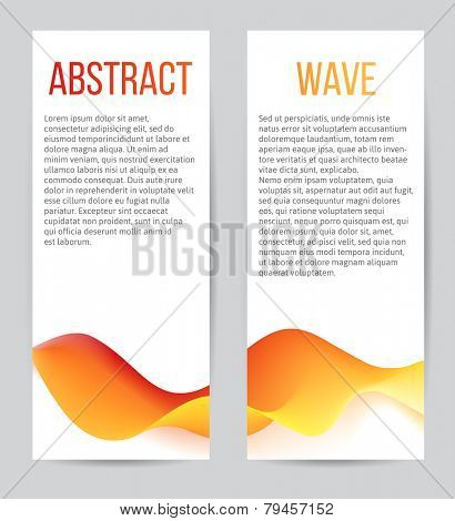 2 vertical banners with blend waves