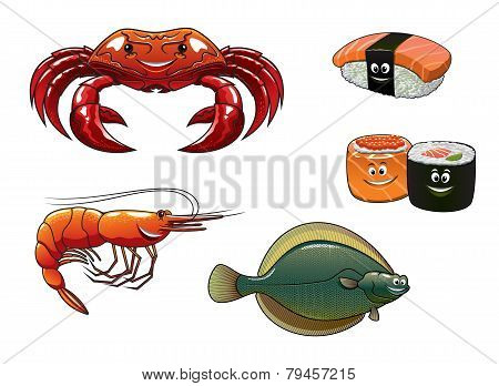 Seafood  Cartoon Characters
