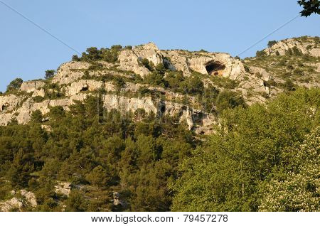 Village Of Fontaine De Vaucluse In Provence
