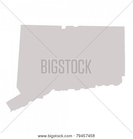 Connecticut State map isolated on a white background, USA.