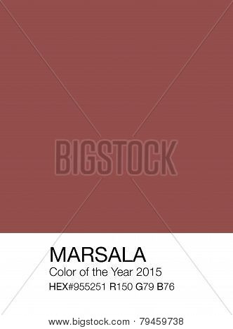 Marsala Color Sample Patch With Hex And Rgb Recipes