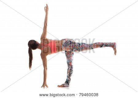 Yoga Pose Parivritta Ardha Chandrasana