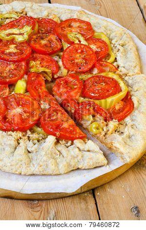 Roasted Tomato And Pepper Tart