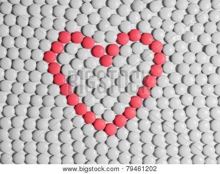 Heart Made Of Tablets
