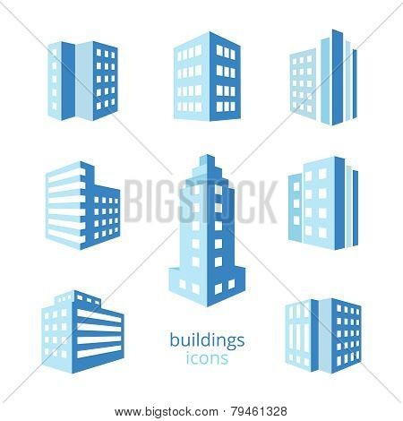 Vector buildings icons