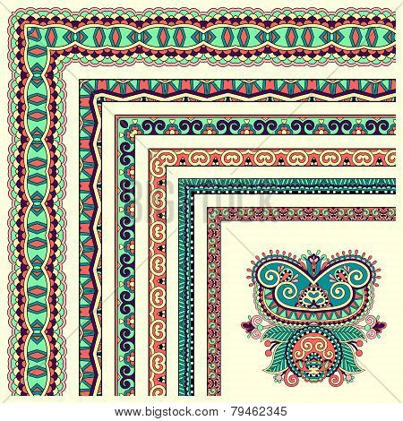 floral vintage frame design. Vector set. All components are easy