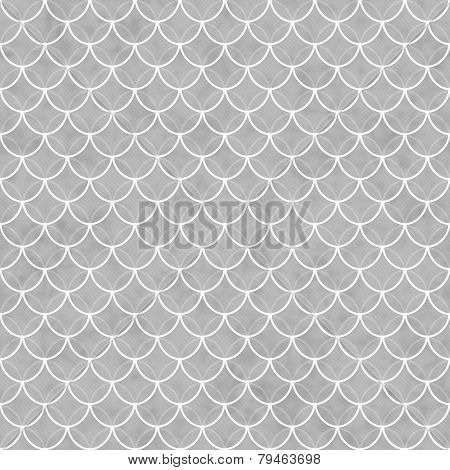 Gray And White Shells With Interlocking Circles Tiles Pattern Repeat Background