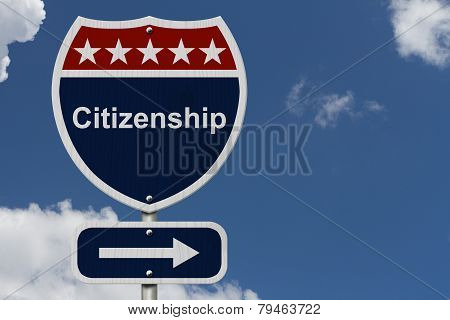 Citizenship This Way Sign