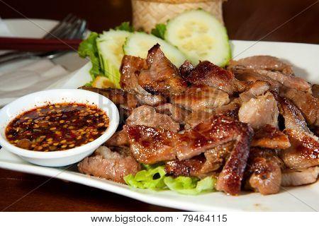 Grill Pork Neck Thai Style