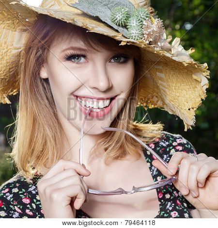 Happy Young Woman Outdoor