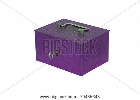Purple Moneybox Isolated