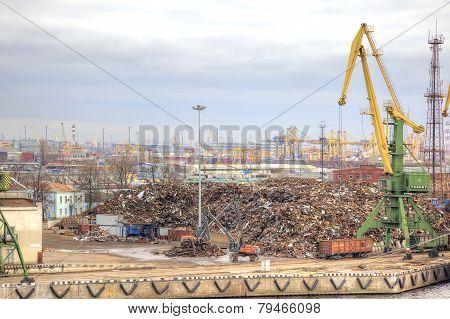 Port Of City Saint Petersburg. Scrapmetal