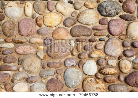 Round stone wall background