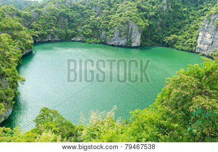 The Lagoon, Mae Koh Island, Ang Thong National Marine Park, South Of Thailand
