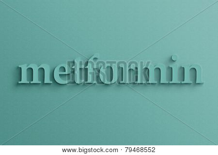 3D text with shadow on wall, metformin .