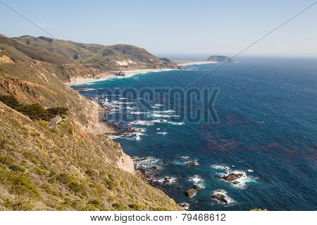 california coastline in Big Sur