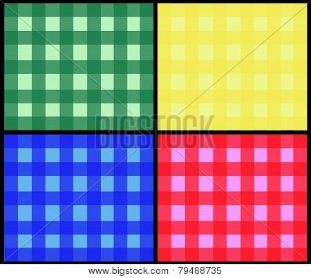 Background Vector-Primary Colored Checkered Squares