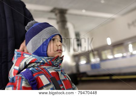 Child On Subway Platform