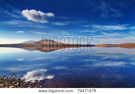 Lake Zuratkul in Ural Mountains, Russia
