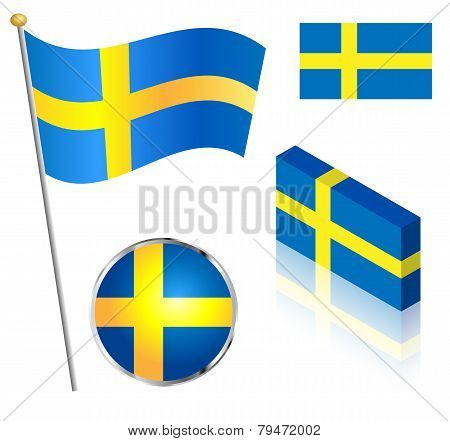 Swedish Flag Set