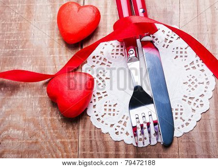 Valentine's Day Table Setting Concept